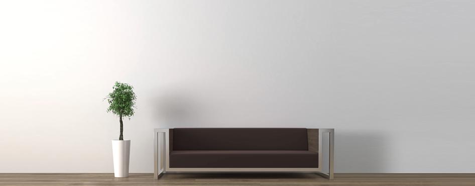 Fondo 47 b - sofa marron y planta